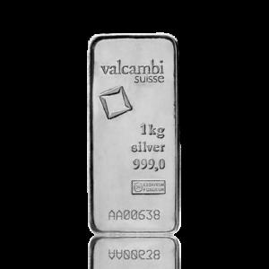 1 kilogram Silver Bar - Valcambi