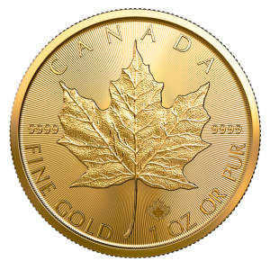 1 ounce Gold Maple Leaf Gold Coins Royal Canadian Mint