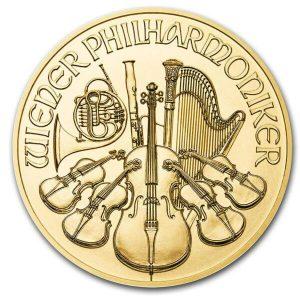 1 ounce Gold Philharmonic gold coin Austrian Mint