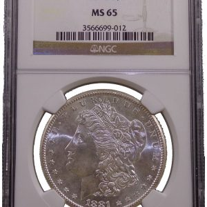 1881 S Morgan Dollar NGC MS-65 Silver Coin