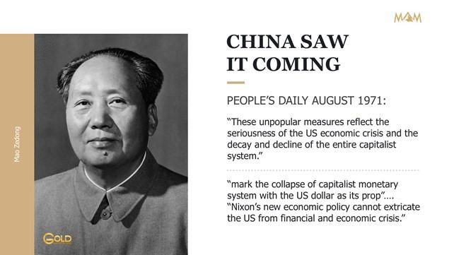 China Saw it Coming