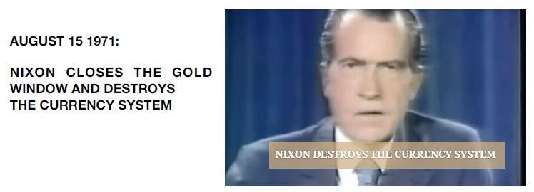Nixon Closes Gold Window